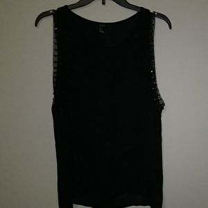 Forever 21 Black tank top with studs